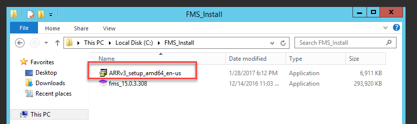 ARR Install Files