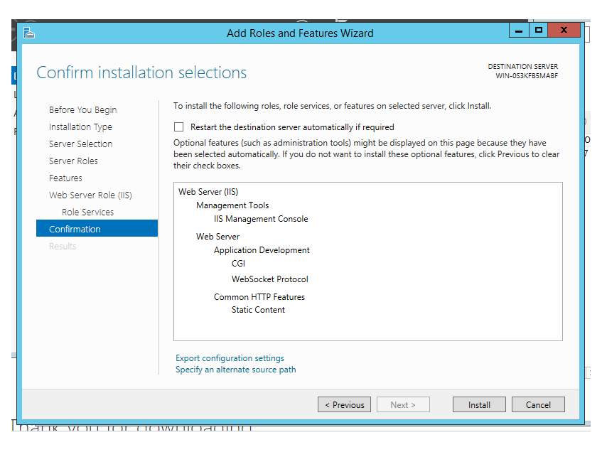 "Installing FileMaker Server 15 on Windows Server 2012 ""offline"